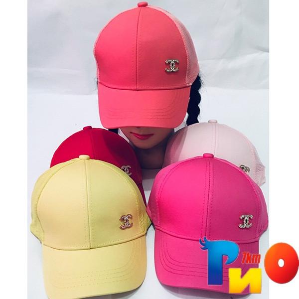 Детская летняя кепка (коттон) для девочек р-р 52 (5 ед в уп) NA_8385