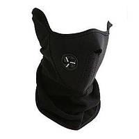 Флисовая лыжная маска, защита лица от обморожения, черная.
