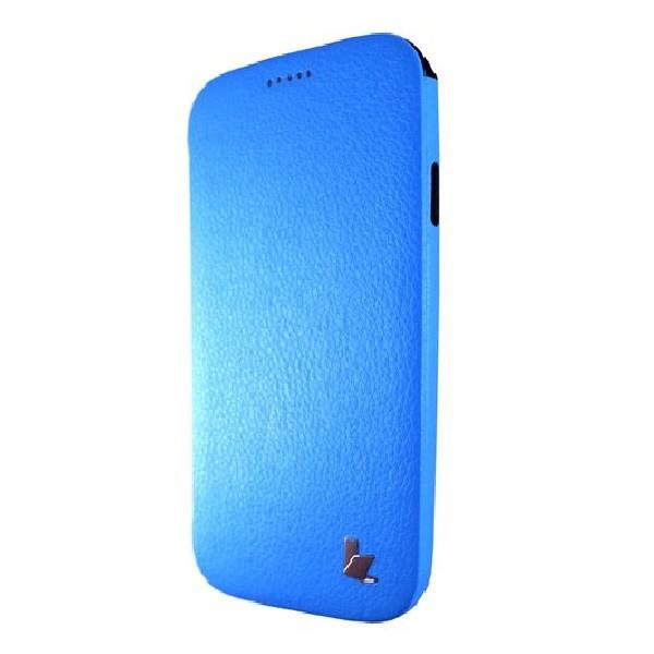 Чехол -Бампер  кожа JISON CASE Premium Leatherette SAMSUNG S4 (blue)