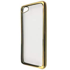 Чехол хром борт Meizu U10 (gold)