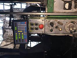 Установка оптических линеек DLS и цифровой индикации DELOS DS-3V на горизонтально-расточной станок станок 2622В 4