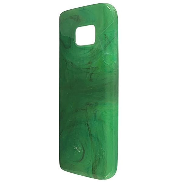Чехол Мрамор Samsung S7 (green)