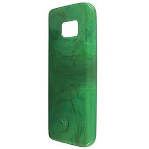 Чехол-накладка DK-Case силикон Мрамор для Samsung S7 (green)