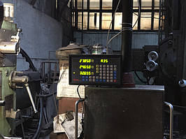 Установка оптических линеек DLS и цифровой индикации DELOS DS-3V на горизонтально-расточной станок станок 2622В 11