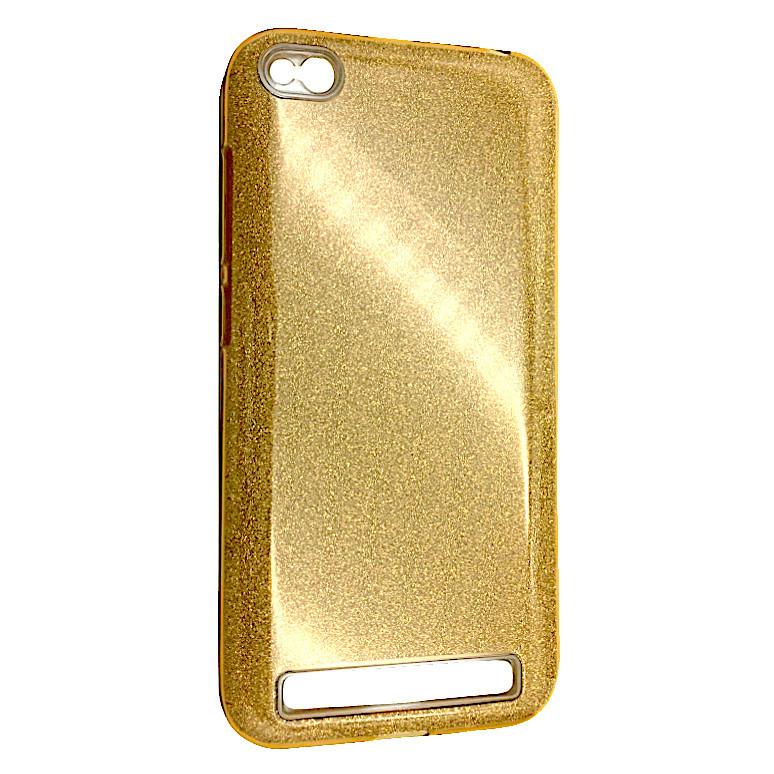 Чехол Silicone Glitter Heaven Rain Xiaomi Redmi 5A (gold)