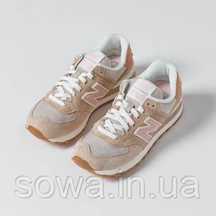 "✔️ Кроссовки New Balance 574 ""Beige/Pink""  , фото 2"