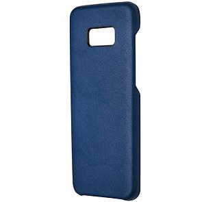 Чехол кожа под ориг открытая Samsung S8 Plus (blue)