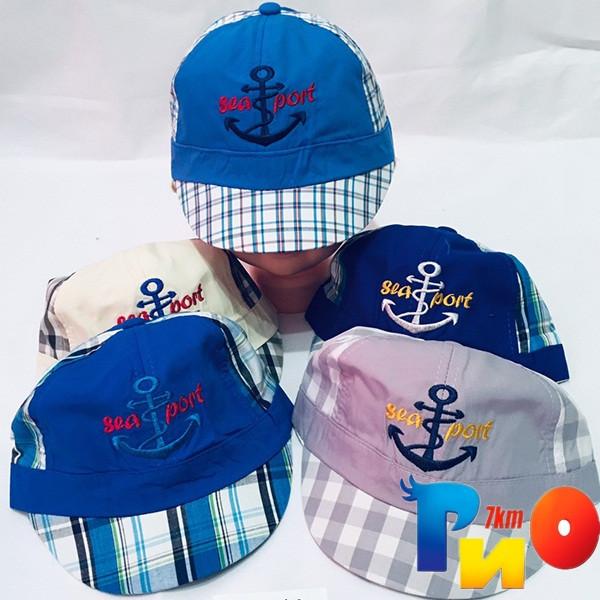 Детская  летняя кепка (коттон) для мальчика р-р 48-50 (5 ед в уп) NA_1242