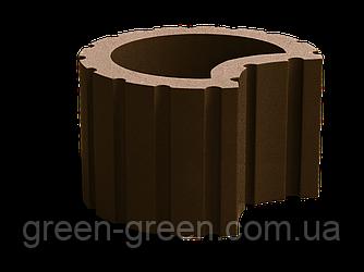Вазон полумесяц коричневый