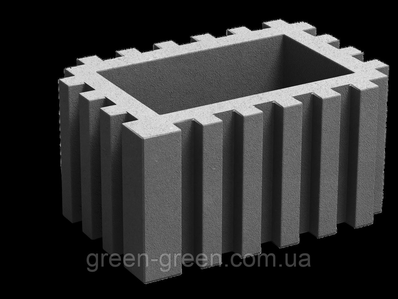 Вазон прямоугольный серый