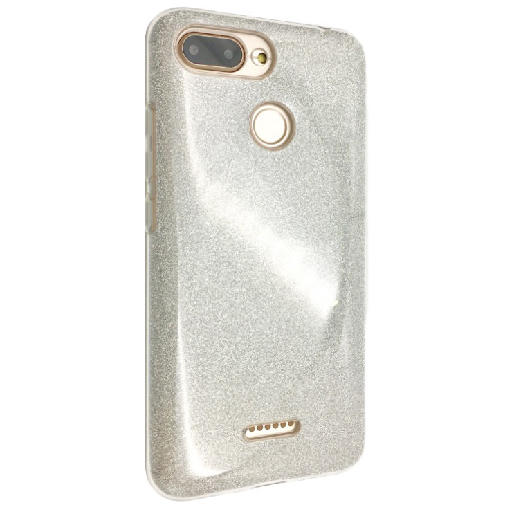Чехол Silicone Glitter Heaven Rain Xiaomi Redmi 6 (silver)