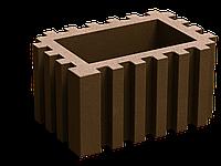 Вазон прямоугольный коричневый