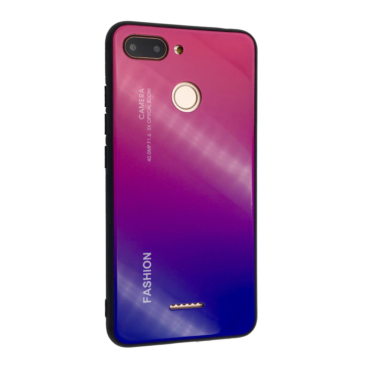 Чехол Glass Case Gradient Fashion Xiaomi Redmi 6 (03)