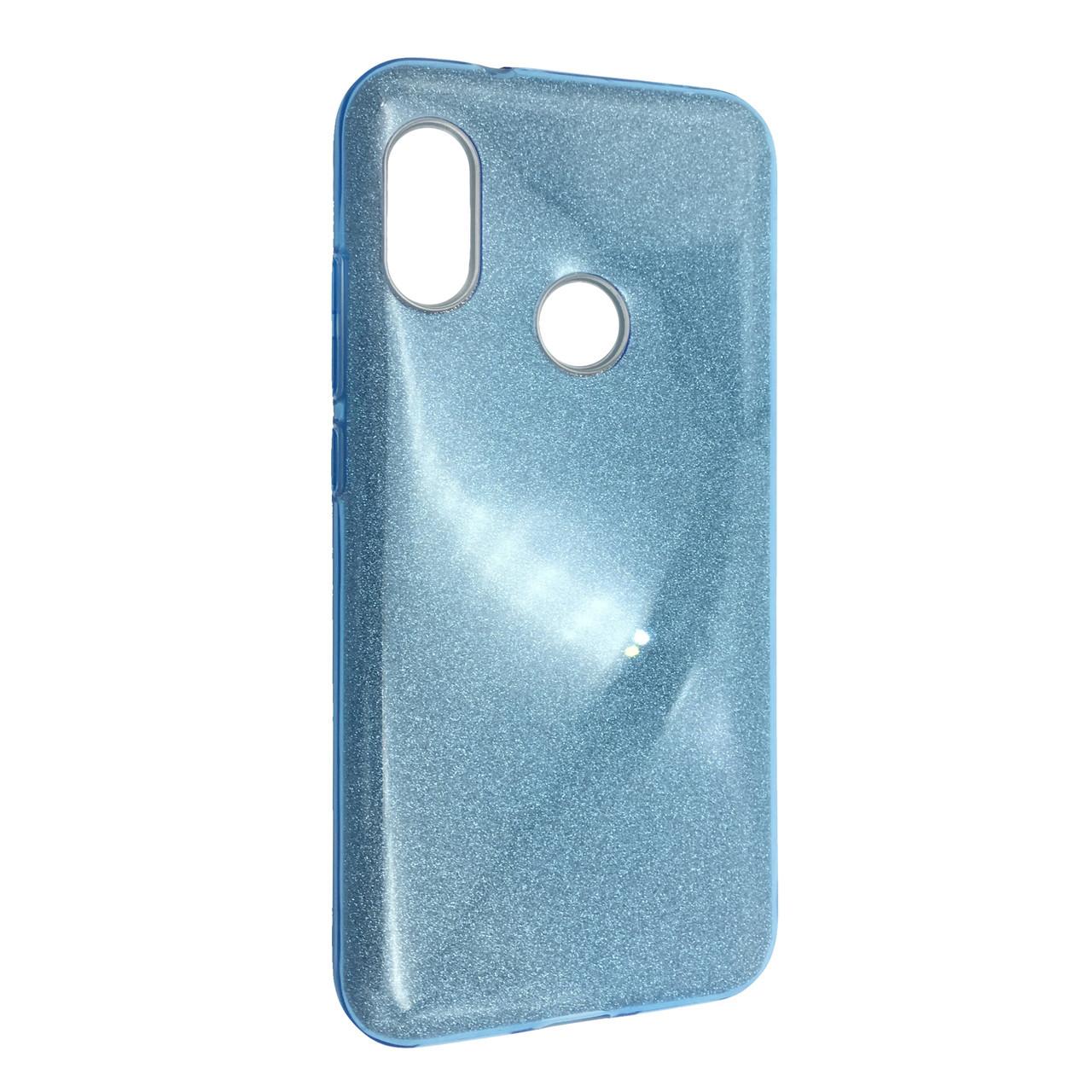 Чехол Silicone Glitter Heaven Rain Xiaomi Mi A2 Lite (Redmi 6 Pro) (blue)
