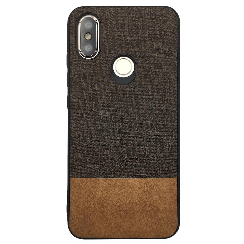 Чехол Fabric Leather Gentleman Xiaomi Mi A2 (Mi 6X) (brown)