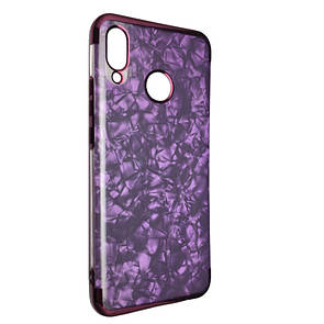 Чехол-накладка DK-Case силикон с хром бортом Edge Marble для Huawei Nova 3 (violet)
