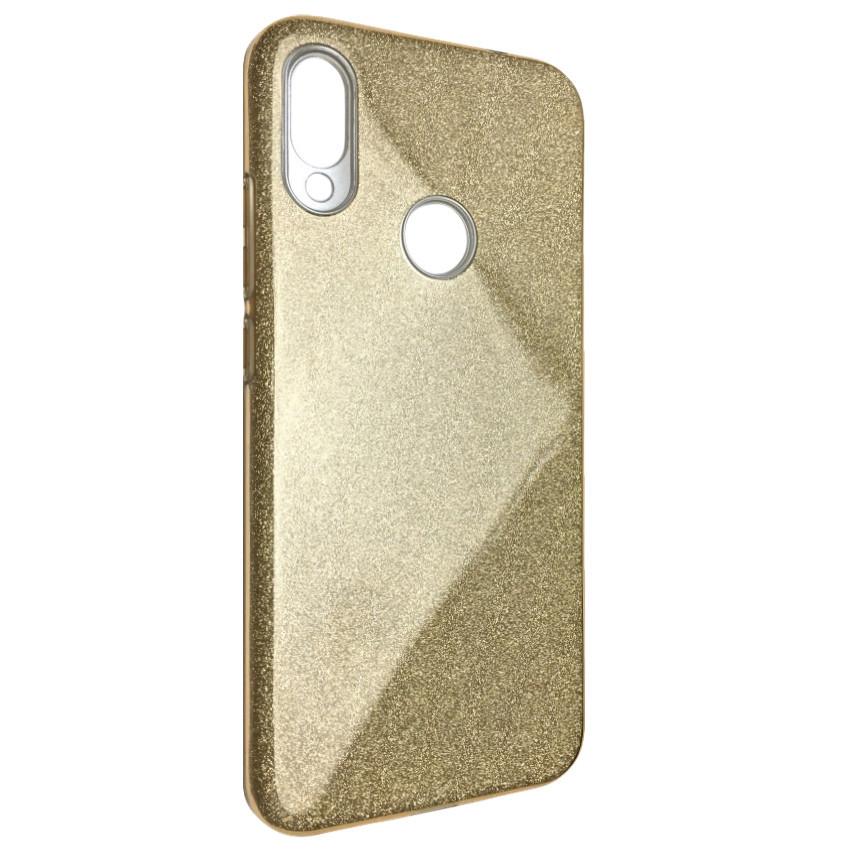Чехол Silicone Glitter Heaven Rain Xiaomi Redmi Note 7 Pro (gold)