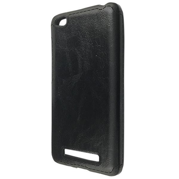 Чехол кожа Sitched Xiaomi Redmi 4A (black)