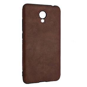 Чехол-накладка DK-Case силикон кожа Sitched для Meizu M6 (brown)