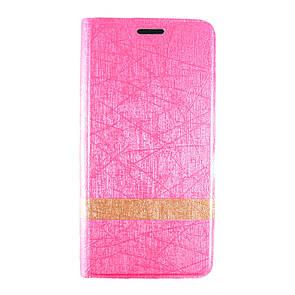Чехол-книжка кожа Wallpaper с силиконом для Meizu M3e (pink)
