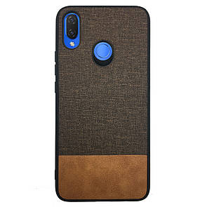 Чехол  Fabric Leather Gentleman for Huawei P Smart Plus (brown)