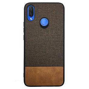 Накладка DK-Case силикон Fabric Leather Gentleman for Huawei P Smart Plus (brown)