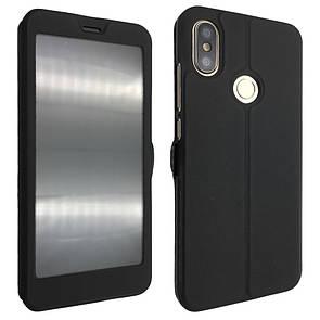 Чехол -книжка кожа с пластиком Flip Cover Magnetic Xiaomi Redmi Note 6 Pro (black)