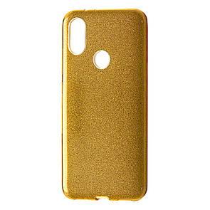 Чехол Silicone Glitter Heaven Rain Xiaomi Redmi Note 6 Pro (gold)