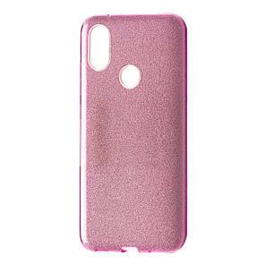Чехол Silicone Glitter Heaven Rain Xiaomi Redmi Note 6 Pro (pink)