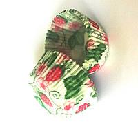 Форма/мафина клубничка с листочком (код 04054)