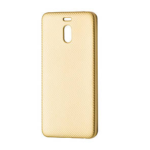 Чехол-накладка DK-Case силикон Carbon для Meizu M6 Note (gold)
