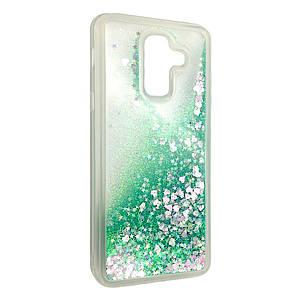 Чехол Аквариум Сердечки Samsung J8 (2018) (green)