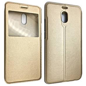 Чехол-книжка DK-Case кожа с пластиком Flip Cover Stitched для Meizu M6 Note (gold)