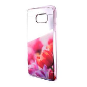 Чехол-накладка DK-Case силикон Blex зеркало для Samsung S7 (silver)