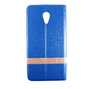 Чехол-книжка DK-Case кожа Wallpaper с силиконом для Meizu M3e (light blue)
