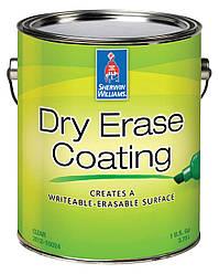 Краска Dry Erase Coating Sherwin-Williams маркерная доска, прозрачная 0,665л