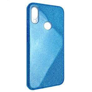Чехол-накладка DK-Case Silicone Glitter Heaven Rain для Huawei P Smart (2019) / Honor 10 Lite (blue)