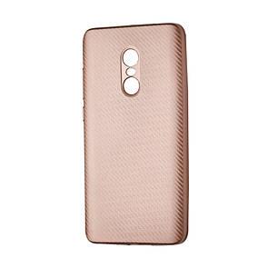 Чехол-накладка DK-Case силикон Carbon для Xiaomi Redmi Note 4X (rose gold)