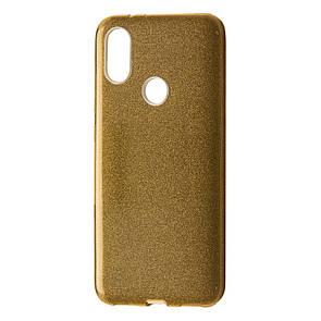 Чехол Silicone Glitter Heaven Rain Xiaomi Mi 8 (gold)