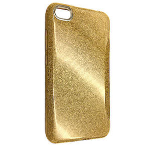 Чехол-накладка DK-Case Silicone Glitter Heaven Rain для Xiaomi Redmi Note 5A (gold)