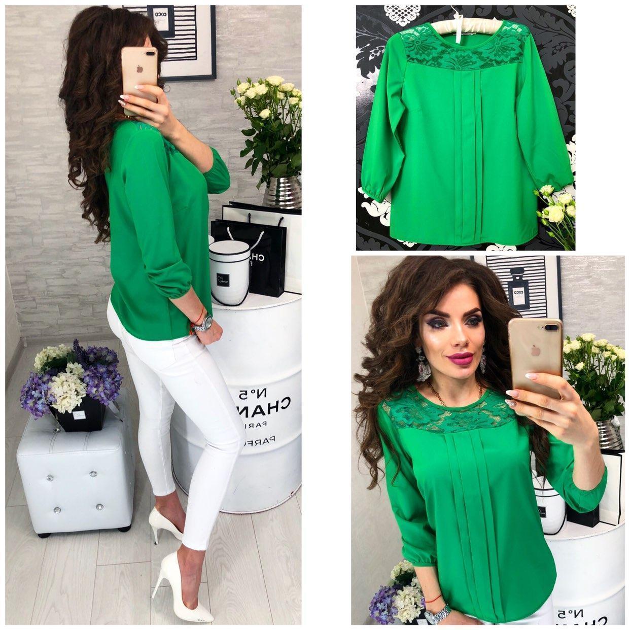 Блузка женская, модель 793, цвет изумруд