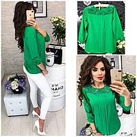 Блузка женская, модель 793, цвет изумруд, фото 1