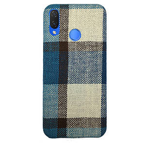 Чехол Fabric Square Huawei P Smart Plus (blue)