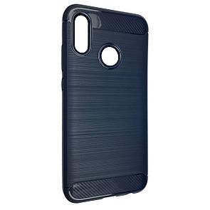 Чехол  Carbon Steel Huawei P Smart (2019) / Honor 10 Lite (dark blue)
