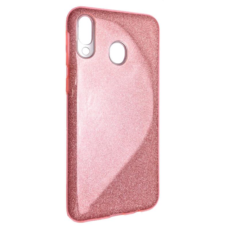 Чехол Silicone Glitter Heaven Rain Samsung M20 (light pink)