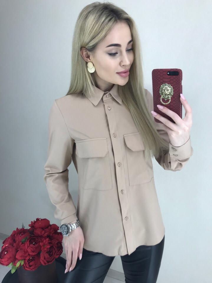f157edb9856 Женская бежевая рубашка - купить по лучшей цене в Одессе от компании ...