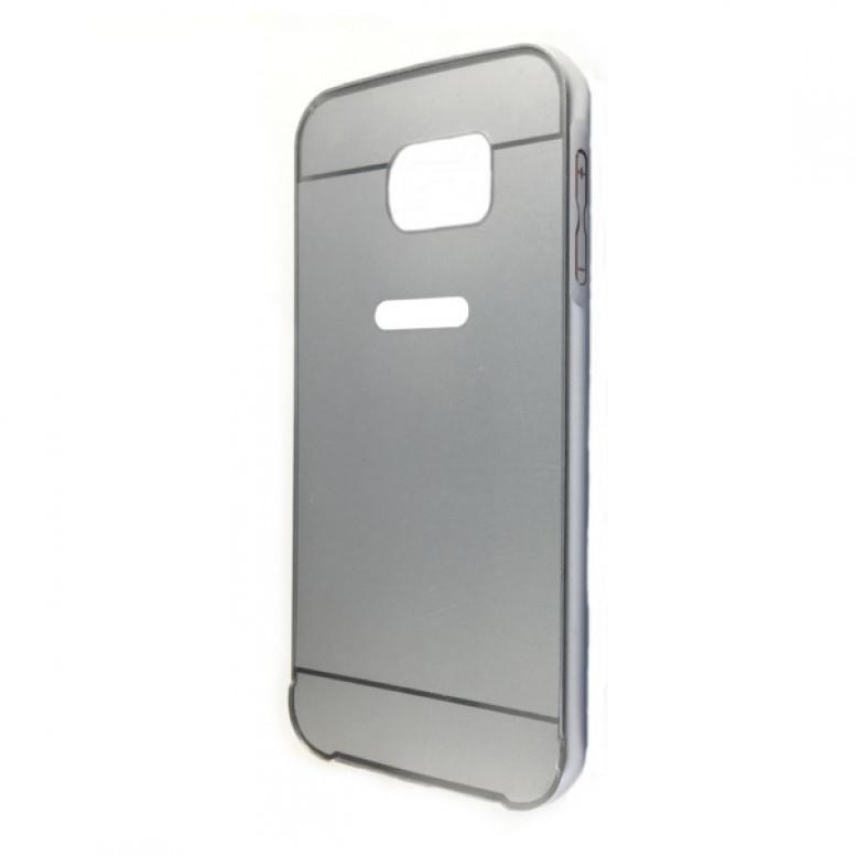 Чехол -бампер металл + Чехол SAMSUNG S6 EDGE (silver)