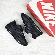 Кроссовки женские,подростковые Nike air max 97,черные, фото 3