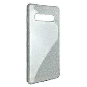 Чехол Silicone Glitter Heaven Rain Samsung S10 (silver)