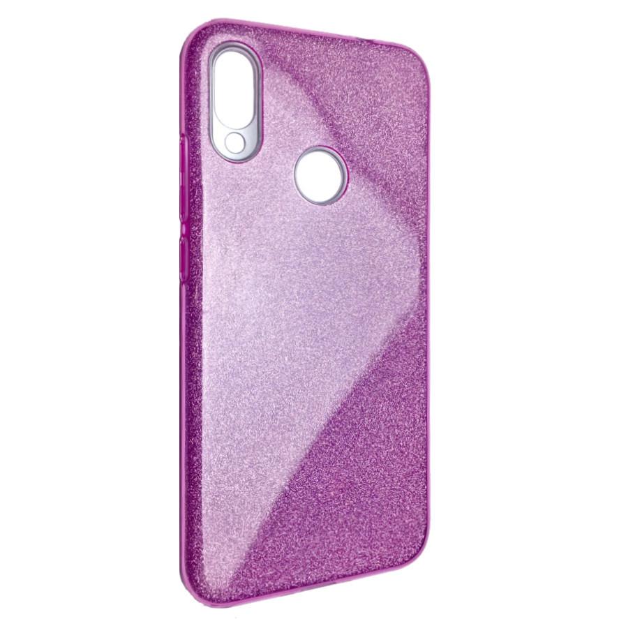 Чехол Silicone Glitter Heaven Rain Xiaomi Redmi Note 7 Pro (pink)